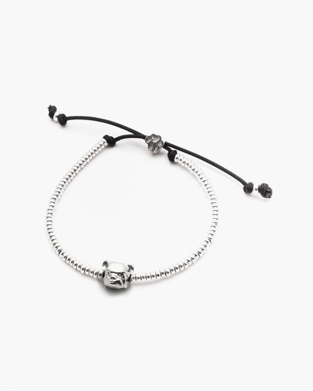 bracciale testa bulldog inglese argento lucido
