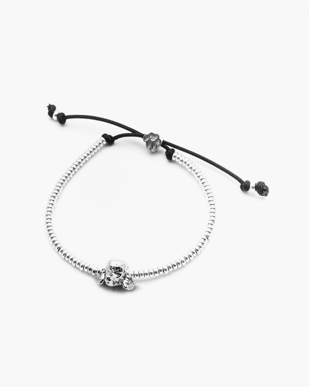 poodle snout bracelet polished silver