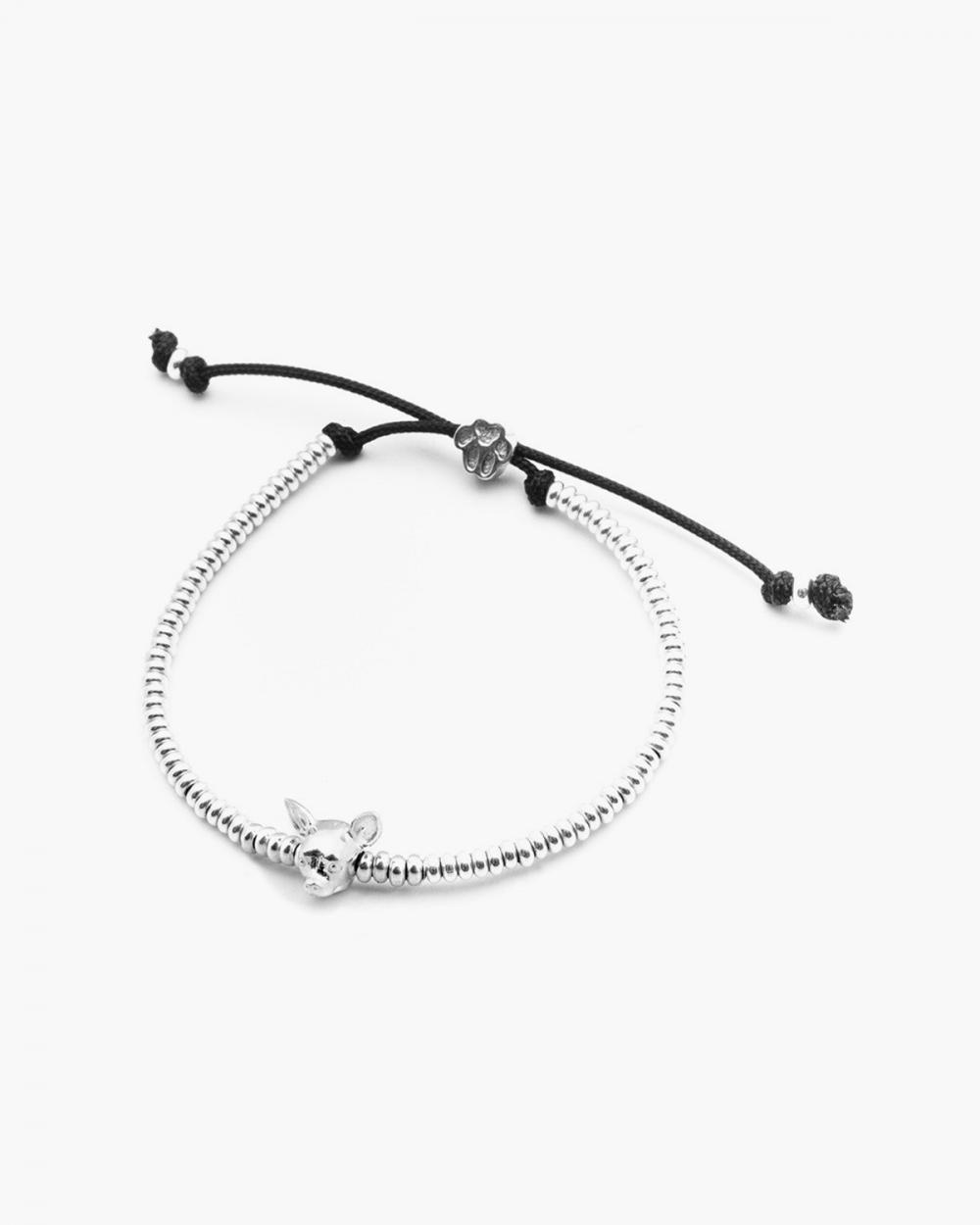 chihuahua snout bracelet polished silver