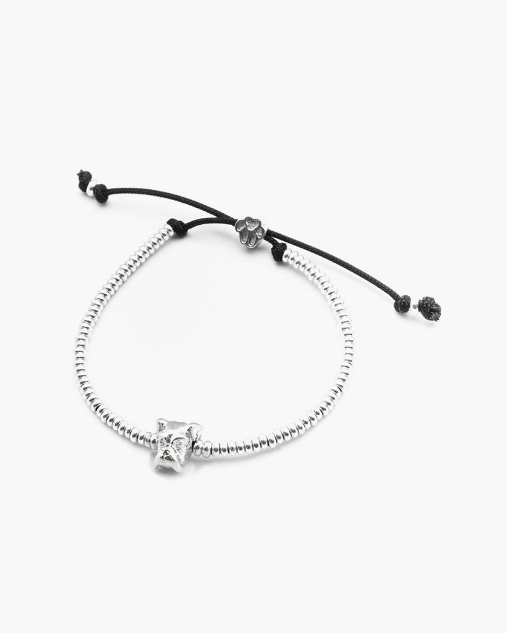 boxer snout bracelet polished silver