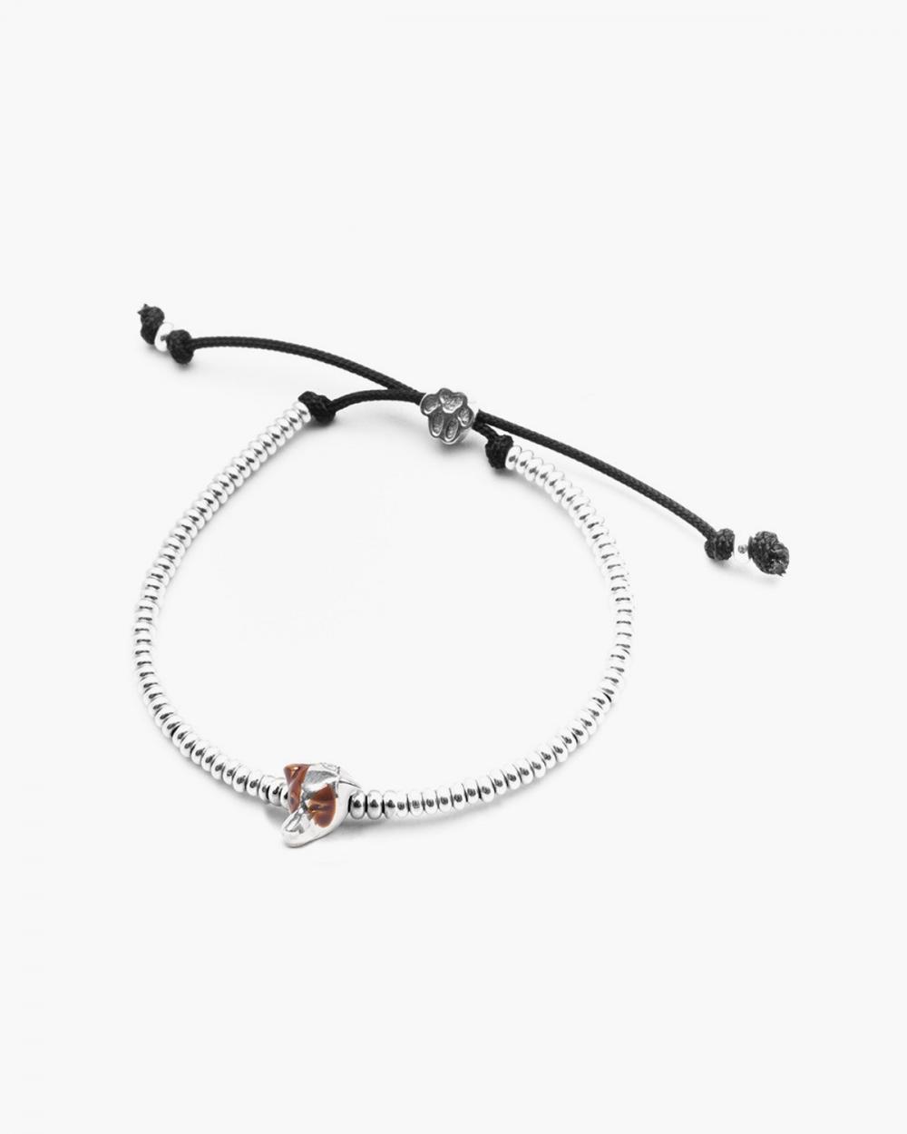 jack russell snout bracelet polished silver