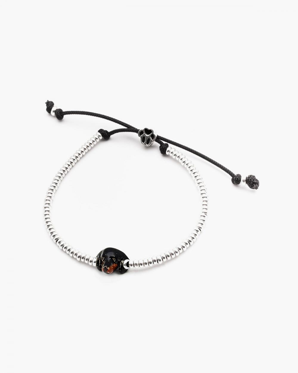 dachshund snout bracelet enamelled