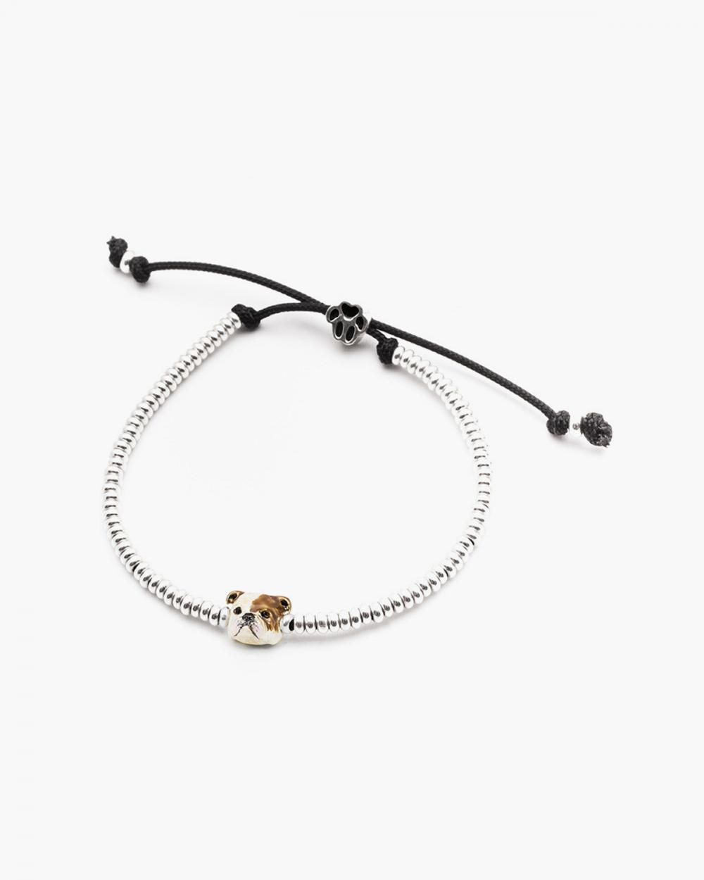 english bulldog snout bracelet enamelled