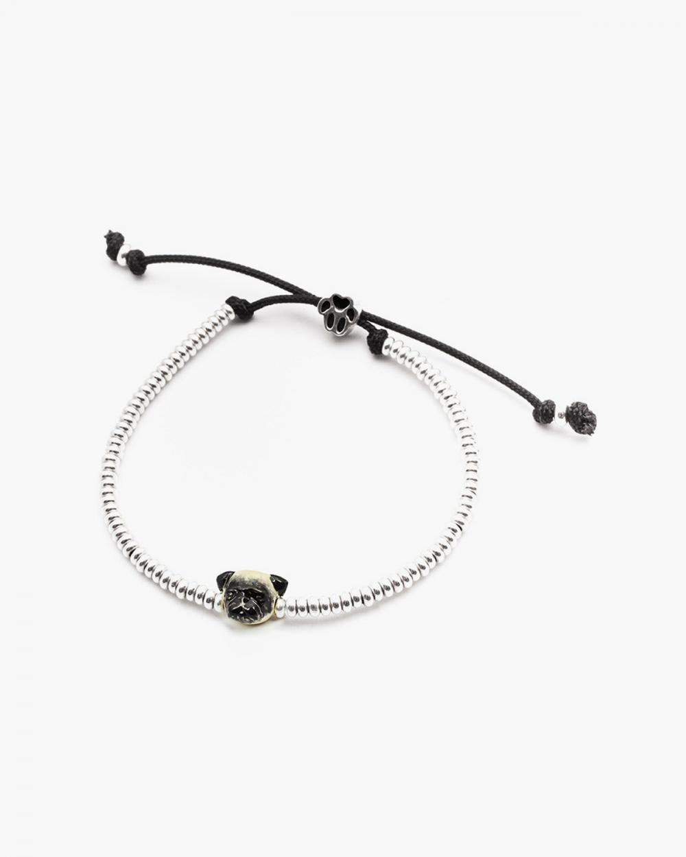pug snout bracelet enamelled