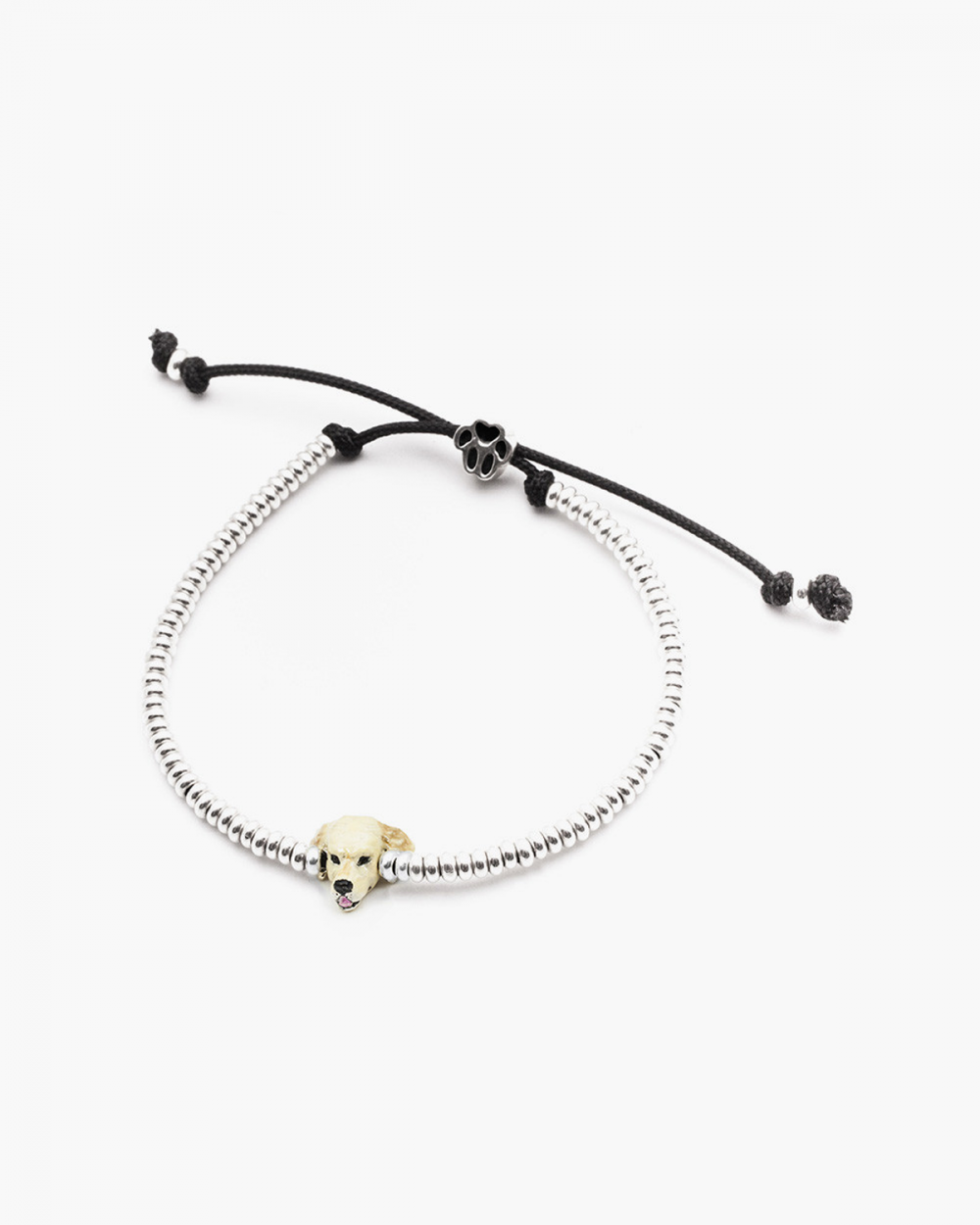 golden retriever snout bracelet enamelled