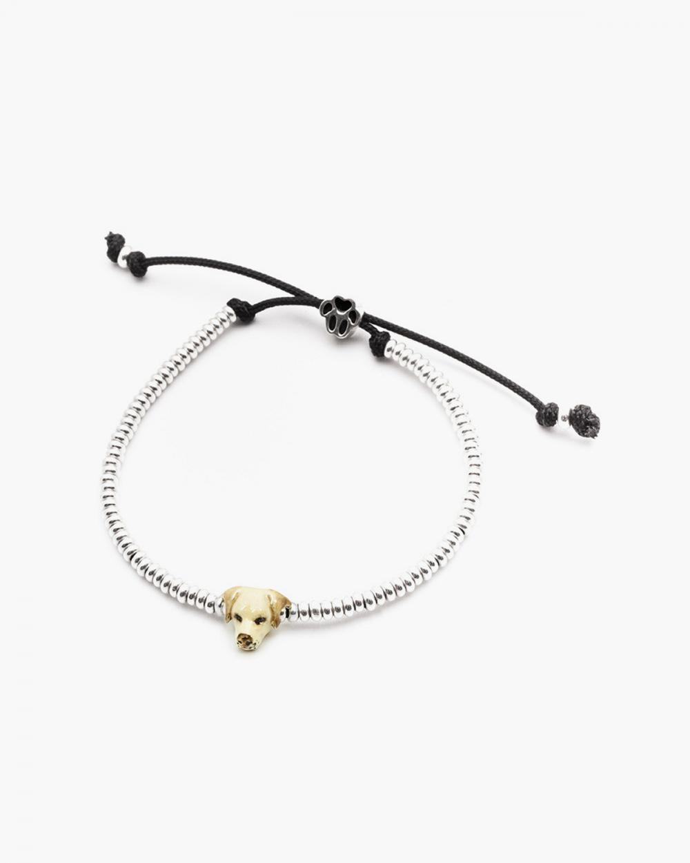 labrador retriever snout bracelet enamelled