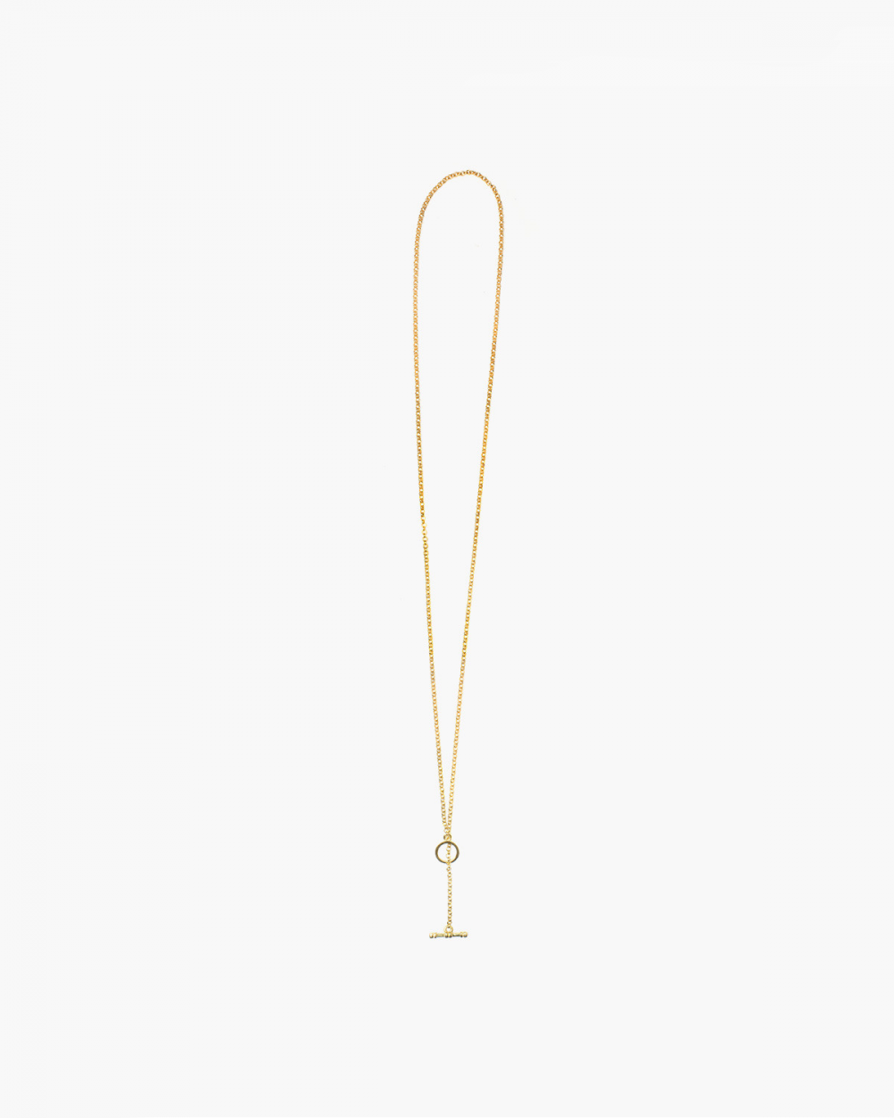 Necklaces YELLOW GOLD ROLO 300 WITH T-BAR NECKLACE - 60 NOVE25