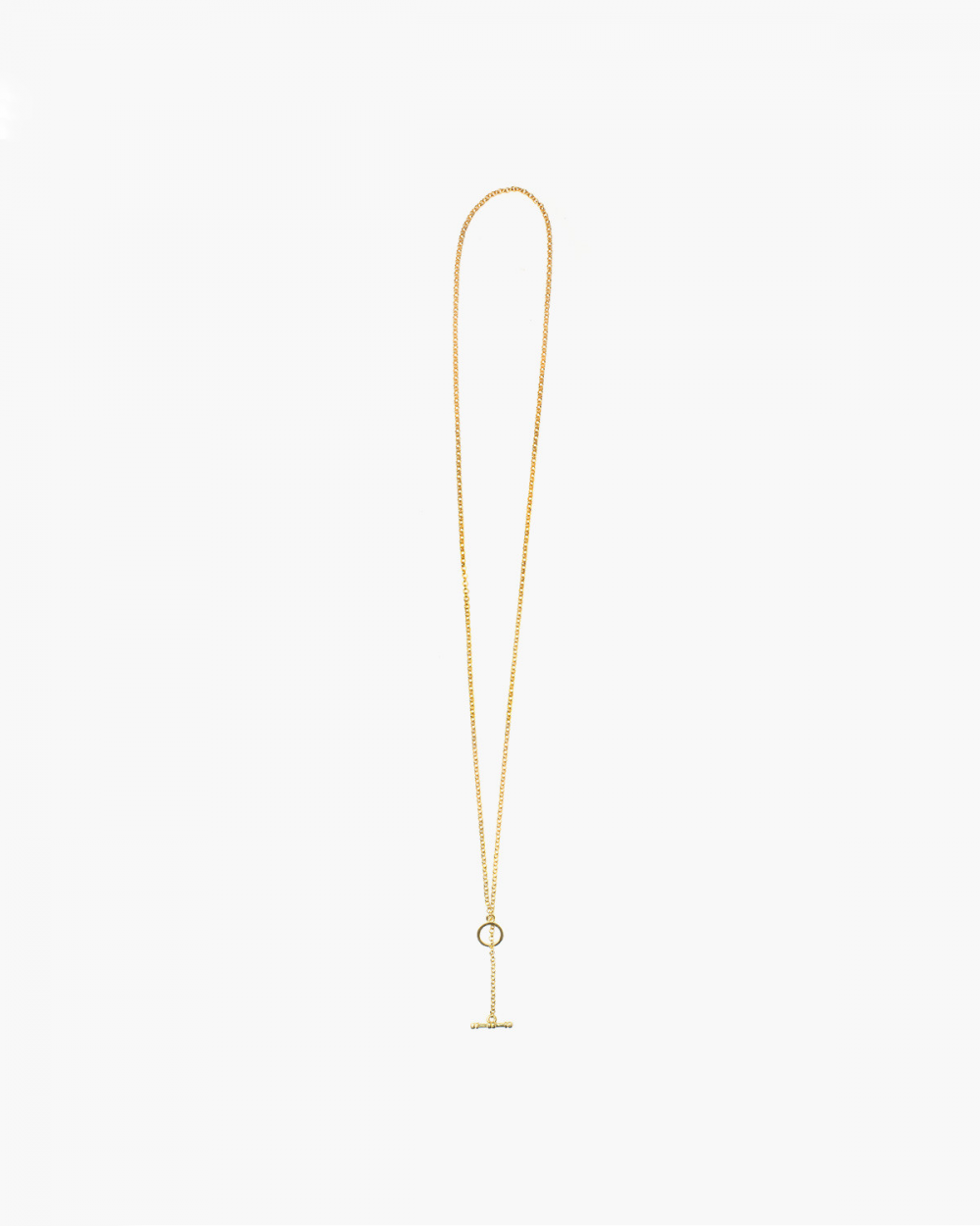 Necklaces YELLOW GOLD ROLO 300 WITH T-BAR NECKLACE - 70 NOVE25
