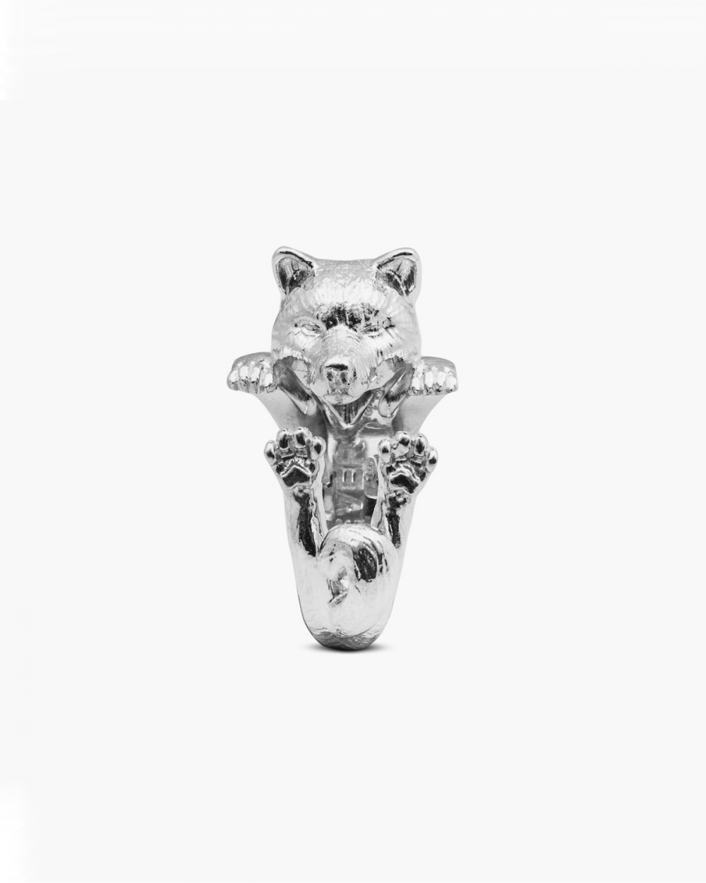 Dog Fever AKITA INU HUG RING / POLISHED SILVER NOVE25