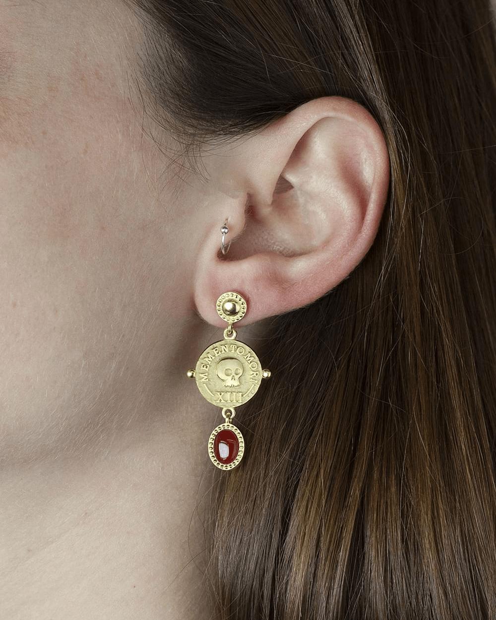 Earrings YELLOW GOLD MEMENTO MORI PAIR EARRINGS NOVE25