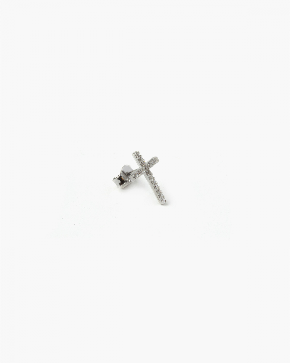 Earrings CUBIC ZIRCONIA MINI CROSS SINGLE EARRING NOVE25