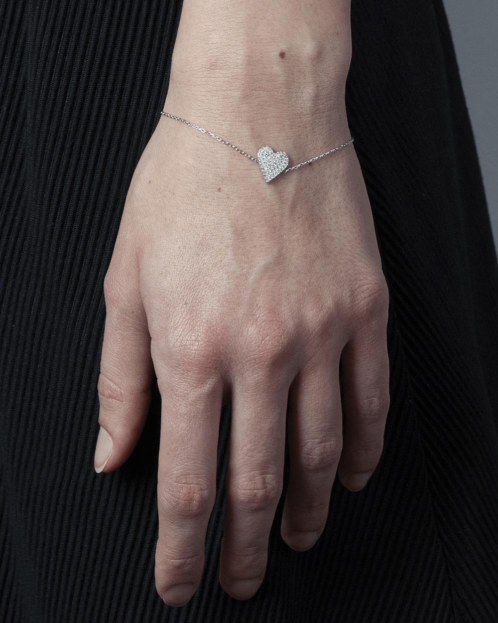 Bracelets CUBIC ZIRCONIA HEART BRACELET NOVE25