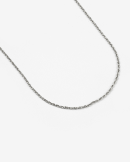 SILVER DIAMOND TORCHON CHAIN 025