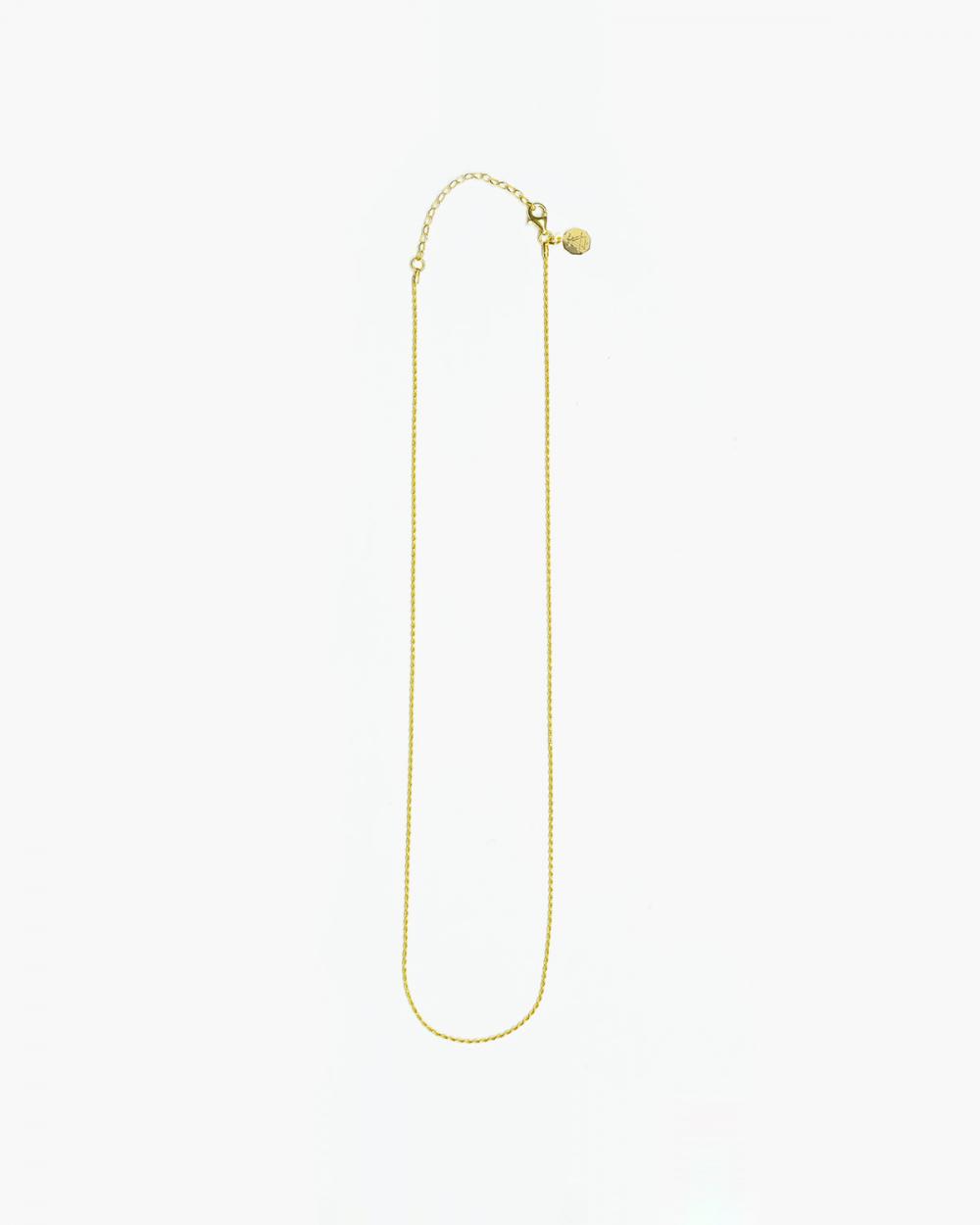 Necklaces YELLOW GOLD DIAMOND TORCHON CHAIN 025 NOVE25