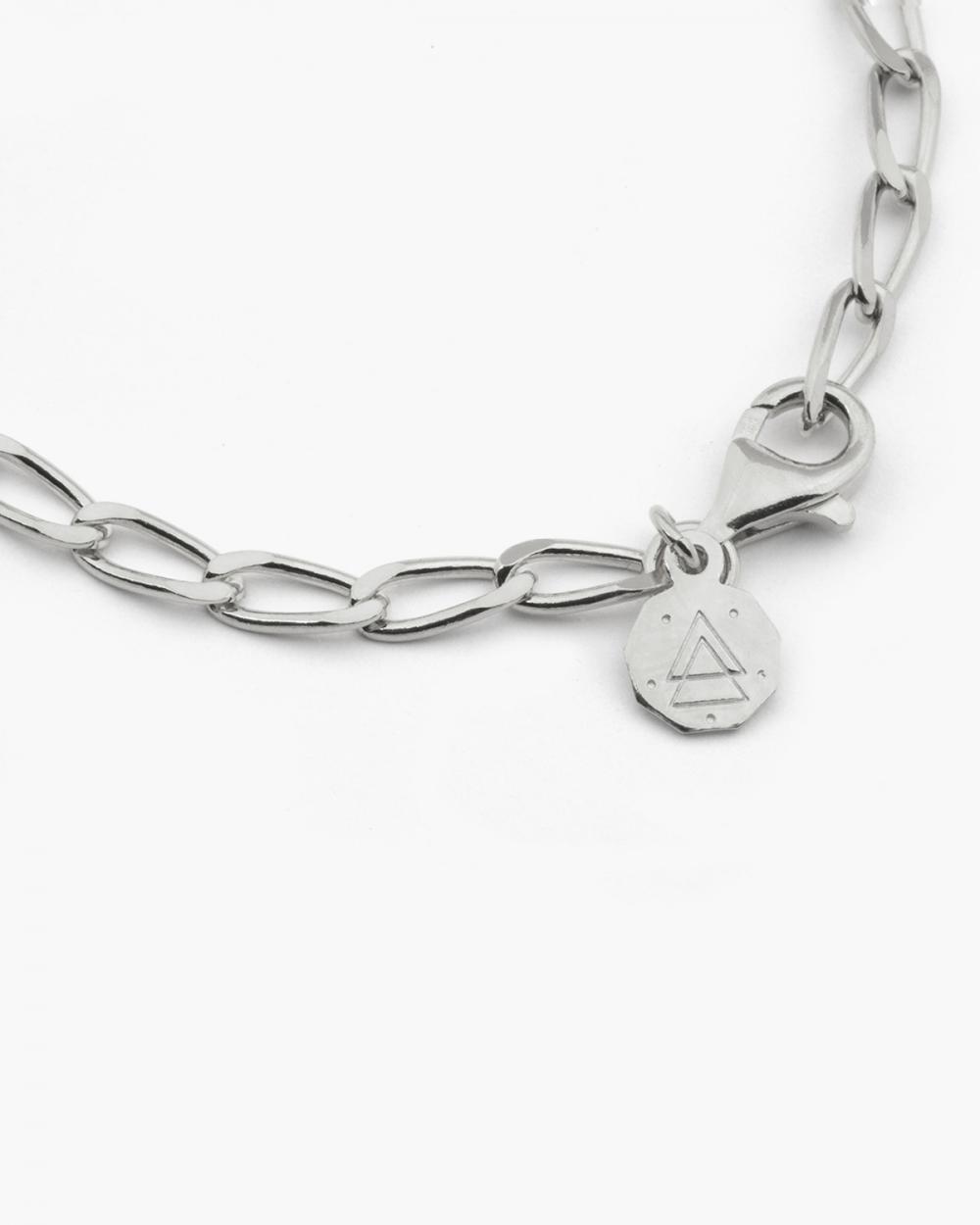 Bracelets SILVER LONG CURB CHAIN BRACELET NOVE25