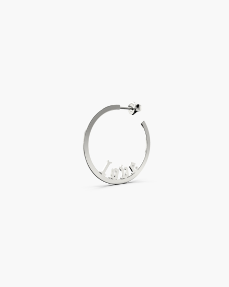 LOW NAME ROUND SINGLE EARRING