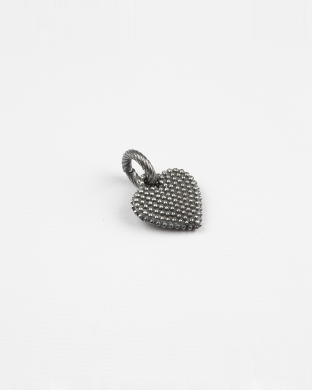 DOTTED HEART CHARM PENDANT