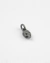 dotted skull charm pendant
