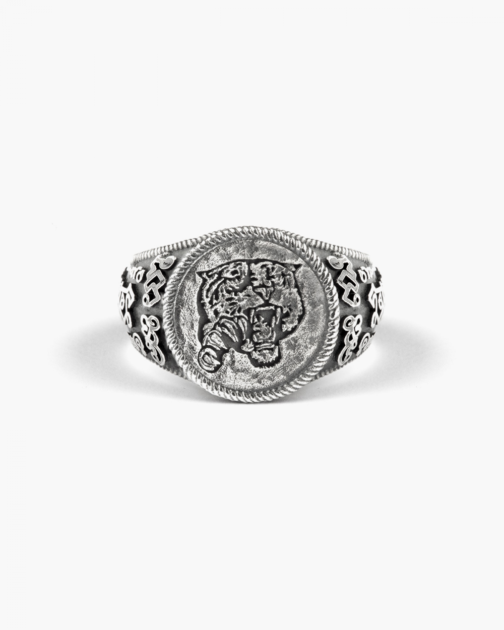 TIGER DECORATION SIGNET RING