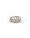 anello grumetta morbida zirconi bianchi rodio lucido