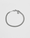 silver two layers curb cable chain bracelet
