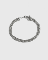 silver three layers chain bracelet