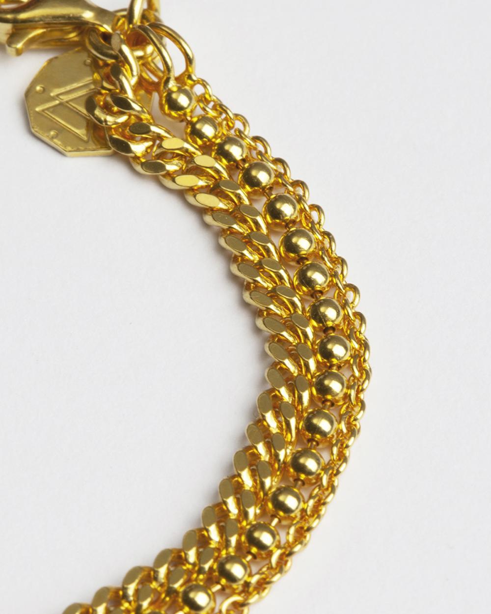 Bracelets YELLOW GOLD THREE LAYERS CHAIN BRACELET NOVE25