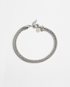 two layers curb foxtail bracelet