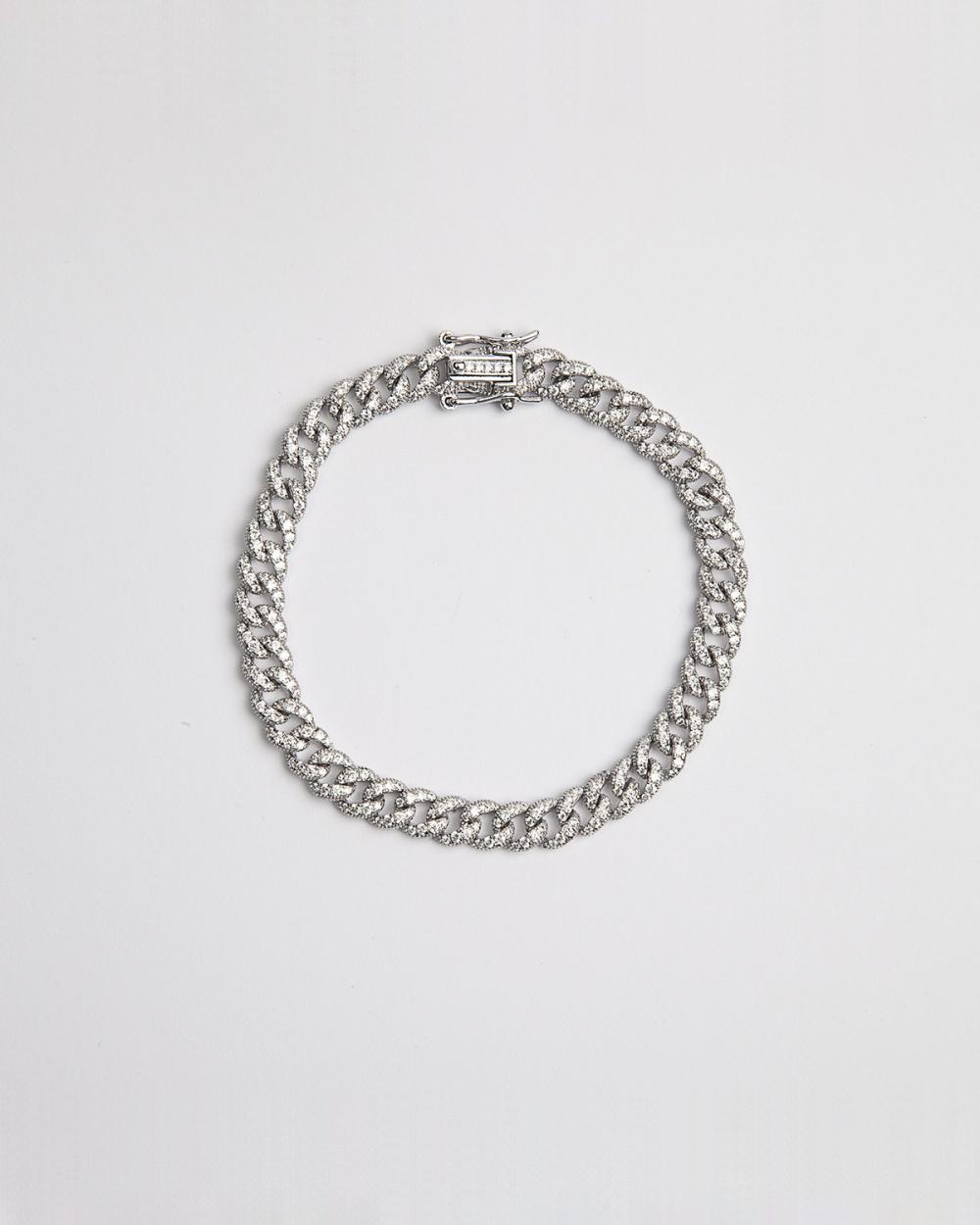 Bracelets CUBIC ZIRCONIA H60 CURB BRACELET NOVE25
