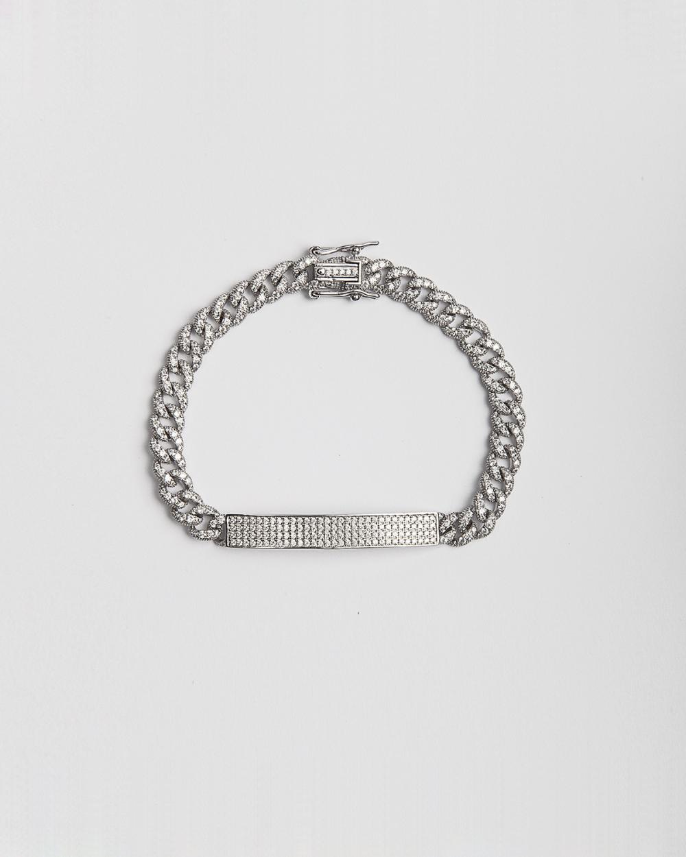 Bracelets CUBIC ZIRCONIA H60 CURB BRACELET WITH PLATE NOVE25
