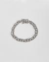 cubic zirconia rolo chain bracelet