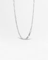 silver 31 curb chain necklace