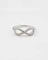 anello infinito piccolo zirconia cubica galvanica rodio lucido