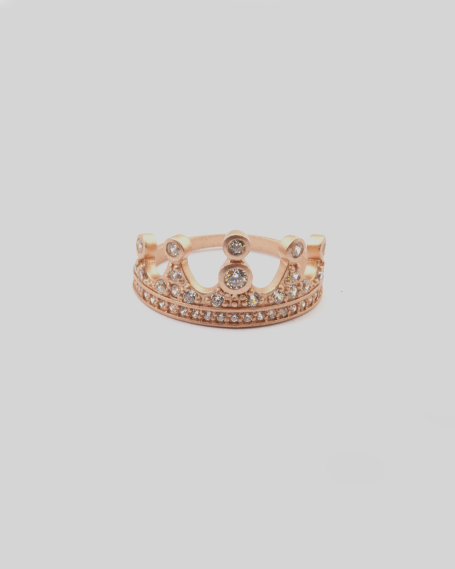 CUBIC ZIRCONIA FIVE-POINT DIADEM RING