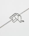 elephant origami bracelet rhodium finish