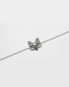 decorated fox bracelet rhodium finish