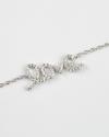 bracciale love zirconia cubica galvanica rodio bianco lucido