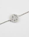 cubic zirconia peace bracelet white rhodium finish
