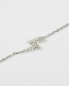 cubic zirconia lightning bolt bracelet white rhodium finish