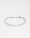 bangle with cable rhodium finish
