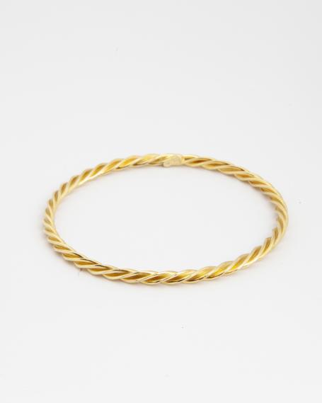 ROPE BANGLE / YELLOW GOLD FINISH