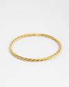 rope bangle yellow gold finish