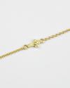 bracciale con croce bianca zirconata oro giallo lucido