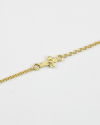cubic zirconia white cross bracelet yellow gold finish