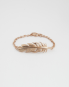 feather bracelet rose gold finish