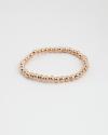 bracciale sfere 500 con elastico galvanica oro rosa lucido