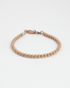 400 ball bracelet rose gold finish