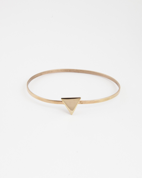 TRIANGLE BANGLE / ROSE GOLD FINISH