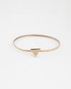 bracciale rigido triangolo galvanica oro rosa lucido