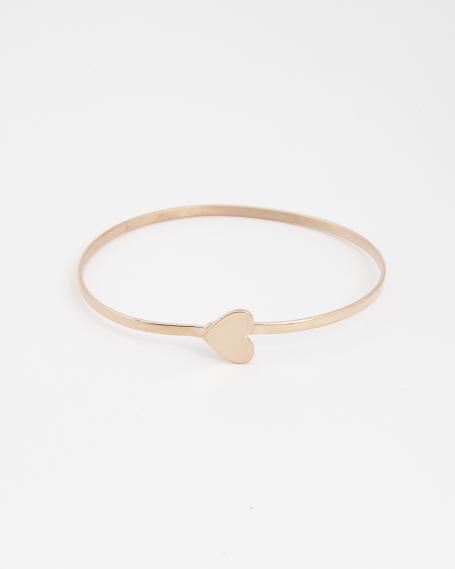 HEART BANGLE / ROSE GOLD FINISH